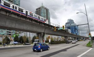 Skytrain, Lougheed Highway, Burnaby