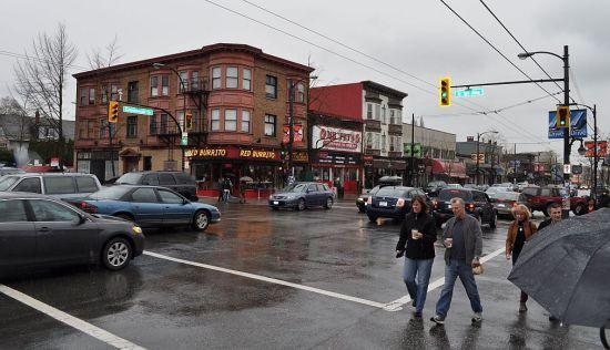 Rain, Commercial Drive, Vancouver