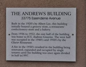Historic plaque, downtown Abbotsford