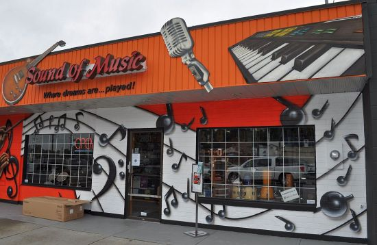 Music store, downtown Abbotsford