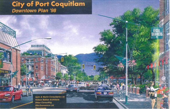The cover of Port Coquitlam's 1998 downtown plan