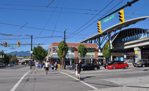 Broadway at Commercial, one of Metro Vancouver's busiest transit stations