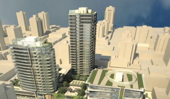 Onni proposal for new development at Lonsdale and 13th, Noth Vancouver; graphic from Onni website