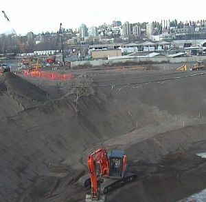 Construction near Tannery Road, Surrey, January 10 2013