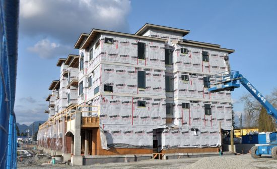 Apartments under construction, Maple Ridge, March 2013