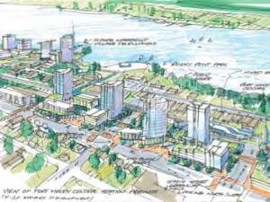 A rendering of the future Moody Centre development zone from the Port Moody draft OCP