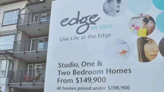 New apartments for sale, Edge Street and Brown Avenue, Maple Ridge, July 2013