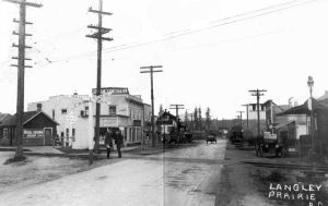 Langley Prairie 100 years ago, from the City's downtown plan