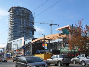 The first tower: Granville north of 70th Avenue, Marpole