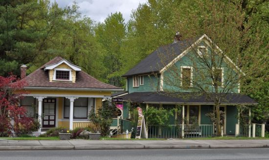 Vintage houses, Clarke Street, downtown Port Moody