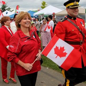 Mayor Watts and friend, Canada Day 2012, City of Surrey