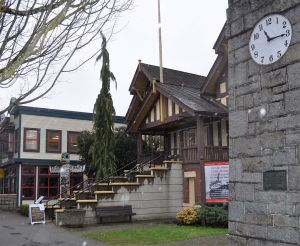 The Delta Museum, formerly the Delta Municipal Hall, with new commercial infill next door on Delta Street