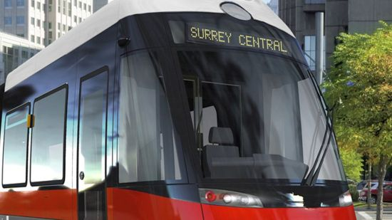 LRT car of the future, from the City of Surrey website