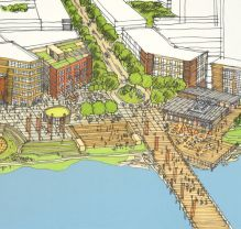 A rendering from Coquitlam's 2008 plan