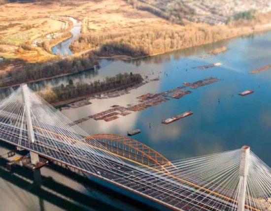Part of the Port Mann Bridge; graphic from the current TI Corp service plan