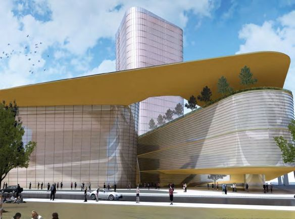 A conceptual rendering of the performing arts centre proposed for Surrey Central. Municipal handout, 2010.