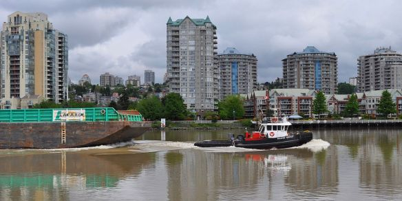 New Westminster Quay seen from Queensborough