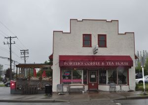 The old Porter's General Store, now a popular café in Murrayville, Langley
