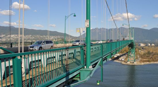 Lions Gate Bridge, Saturday morning
