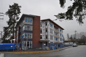 New supportive housing (2013 photo), central Maple Ridge