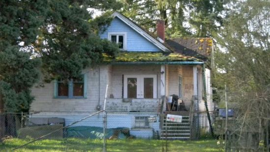 Vintage house, decaying reduced