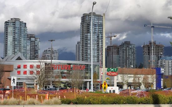 Coquitlam Central, November 2014.Poverty is mostly out of sight here, and perhaps out of mind.
