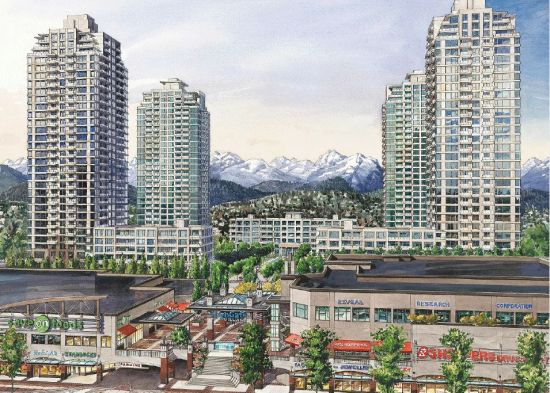 A rendering of Highgate and the towers shown in hese photos, from the Bosa Properties website (bosaproperties.com)