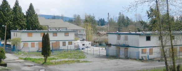 Northumberland Court, Maple Ridge, was demolished in 2011 after 10 years of complaints over its condition