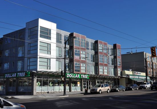 New commercial + 3 structure at Hastings and Templeton, Vancouver