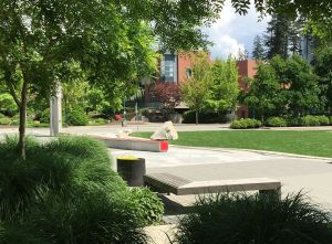 Coquitlam City Hall approached from the new downtown core