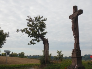 A cross marks the summit of the Gallows Hill, the former place of execution halfway between Friesenheim and Lahr