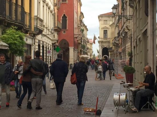Shopping street, Vicenza, Italy