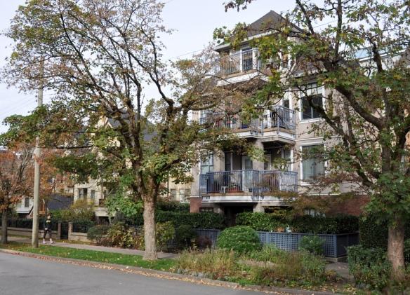 Recent medium-density housing, 10th Avenue near Ontario St.