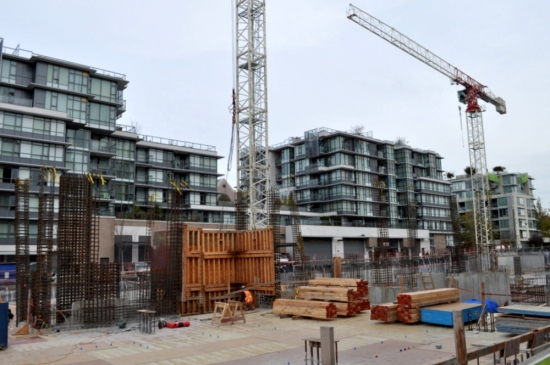Residential construction, 2015, next to the proposed Arbutus transit station