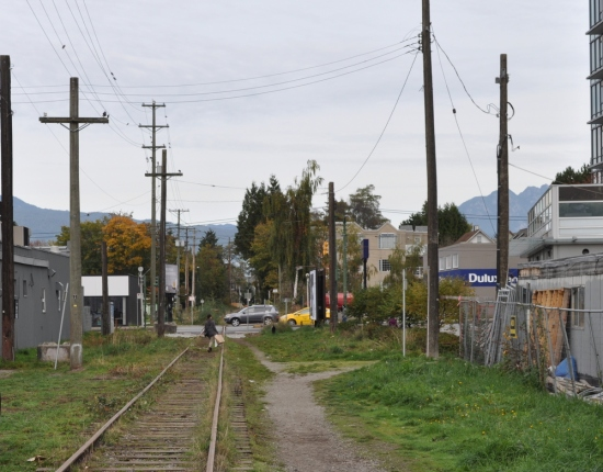 Canadian Pacific rail corridor parallel to Arbutus Street