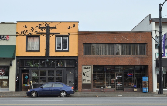 Broadway Avenue storefronts near Kingsway