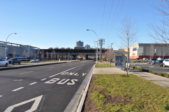 LRT terminus: 104 Avenue at 152 Street looking west. It seems likely that the LRT turnabout would sit on our right.