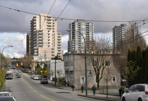 Looking toward Joyce/Collingwood station from north of Kingway