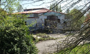 The abandoned Surrey Public Market Building at King George and 64 Avenue, Surrey