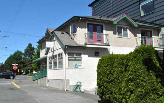 Esquimalt's Chamber of Commerce office, just below Esquimalt Road