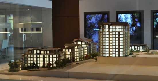 A showroom replica of Bosa's Lynn Valley residences, under construction in fall 2016