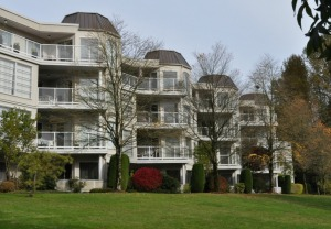1980s (pre-SkyTrain) apartments on the northern edge of the Coquitlam town centre