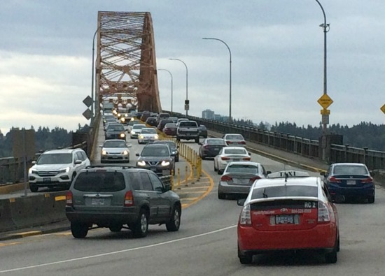 Pattullo Bridge, Saturday afternoon