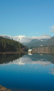 Mountainside reservoir; photo from