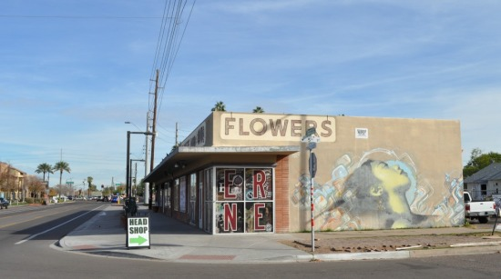 Holding for development: abandoned commercial spaces at Roosevelt and 5th St.
