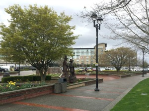 Fraseropolis downtown Langley casino statues